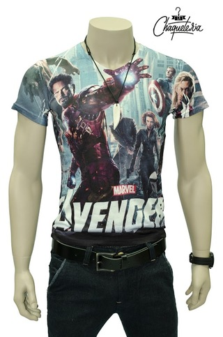 Camiseta Slim Fit, Ref: Iron Man Marca Lachaqueteria