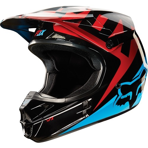 Casco Fox Racing V1 Race Azul/Rojo 10951-149