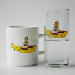Set Vaso y taza Yellow Submarine