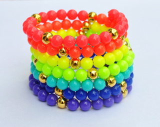 pulsera resorte fluo
