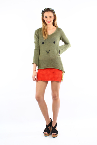 sweater animal verde militar