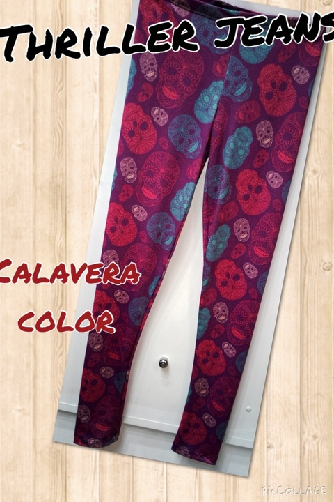 Calza calavera color