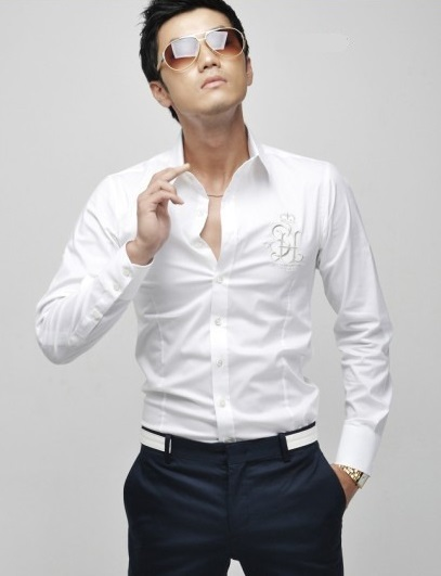 Camisa Social Slim Fit English Men Style Blanca Car