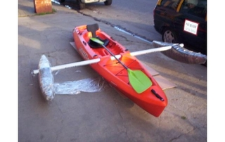 KAYAK ROCKER TWIN FLOTADORES CON UNION