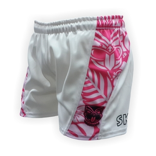 Short de Rugby Blanco / Rosa Warriors