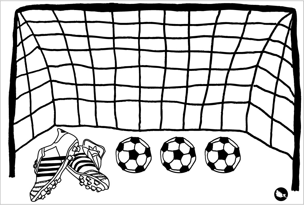 arco de futbol Colouring Pages