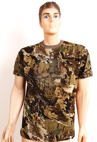 Remera Manga Corta Camuflada - Forest Leather