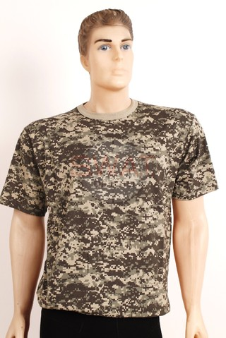 Remera Manga Corta Pixelada - Forest Leather
