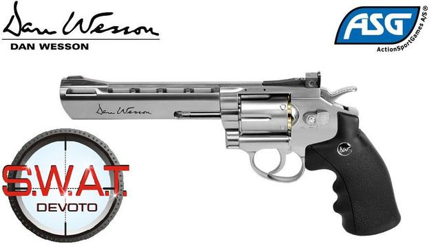 Revolver Co2 Dan Wesson 6'' Plateado 6mm