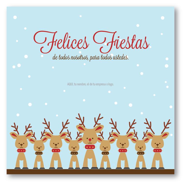 Ni os renos tarjetas para navidad y fin de a o gr fica 21 - Tarjetas de navidad de ninos ...