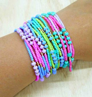 Pulsera chaquiras multicolor NUEVAMENTE EN STOCK
