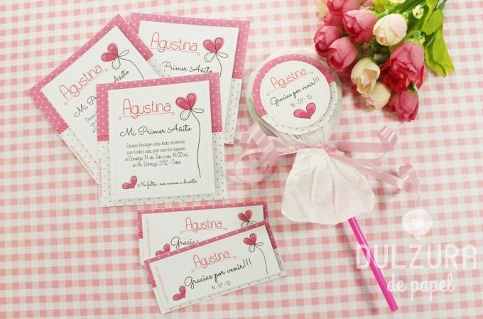 Tarjetas de invitación de primer añito para imprimir - Imagui