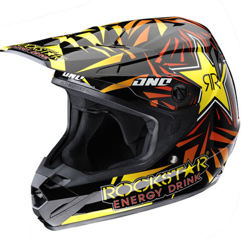 casco profesional para motocross ONE INDUSTRIES REPLICA Rockstar, alta gama
