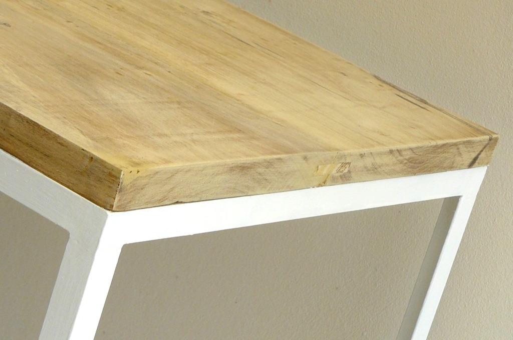 Mesa cubo chica blanca negra comprar en hausdeko - Mesa blanca y madera ...