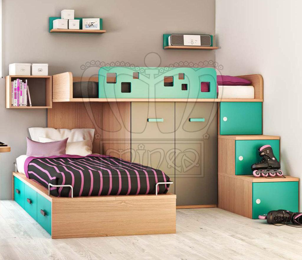 Habitaci n compartida ni o ni a decorar tu casa es for Camas con almacenaje
