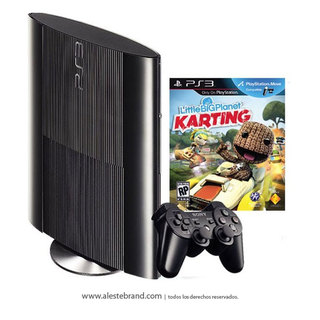 Playstation PS3 Slim 12 GB + Little Big Planet Karting