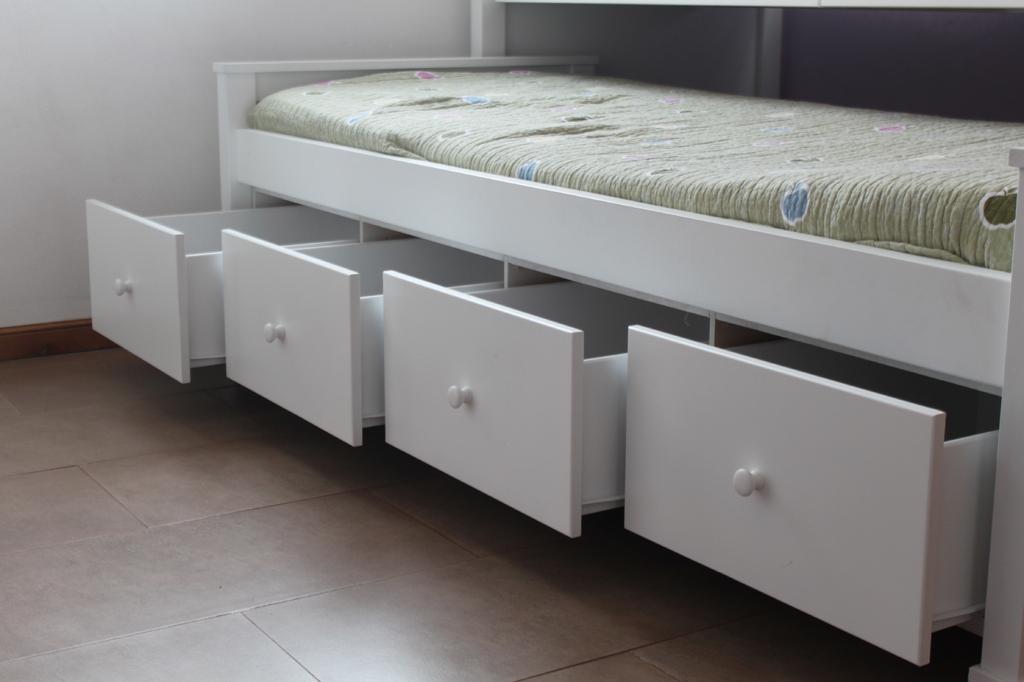 muebles infantiles cama nido con cuna funcional y cajonera en